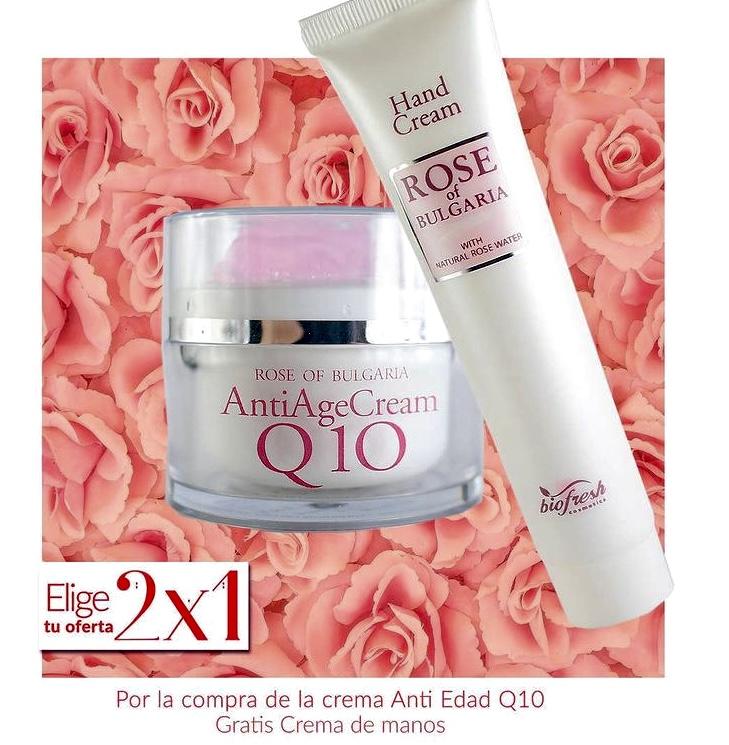 2x1 Crema Q10 + crema manos Rosa de Bulgaria